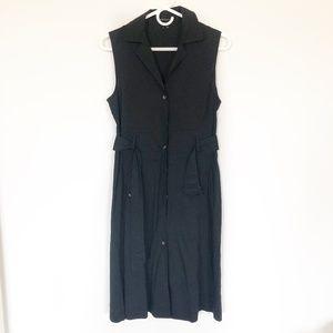 Theory Sleeveless Black Belted Dress Size 8